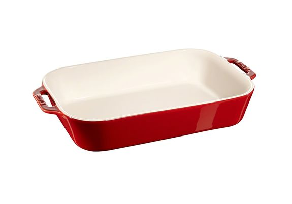 Staub Rectangular Baker Cherry Red