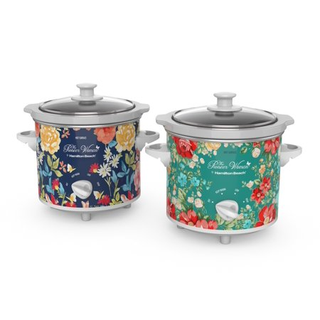 Pioneer Woman Floral 1.5 Quart Slow Cooker Set of 2