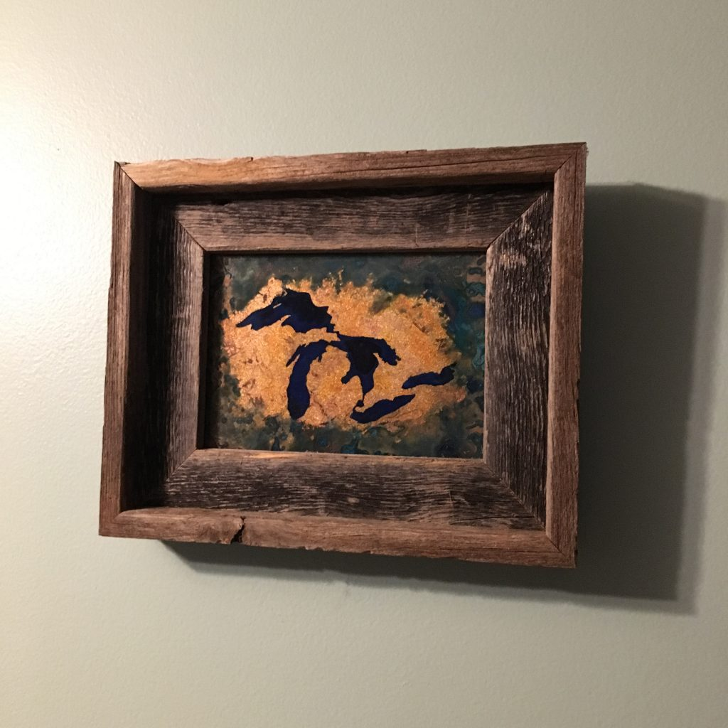 Michigan Copper Image with Barn Wood frame