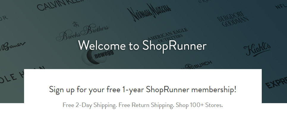 Welcome to ShopRunner