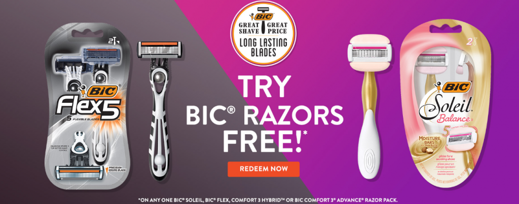 Try Bic Razors Free!