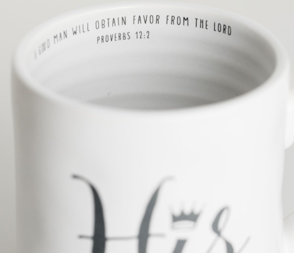 His Hand Thrown Mug with Inside Scripture