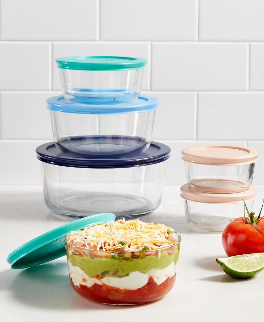 Pyrex 12 piece storage set