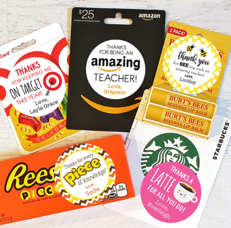 Teacher Appreciation Gift Stickers