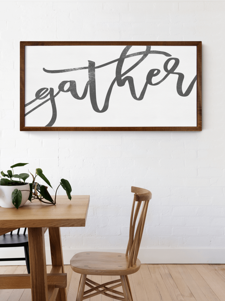 Extra Large Gather Sign