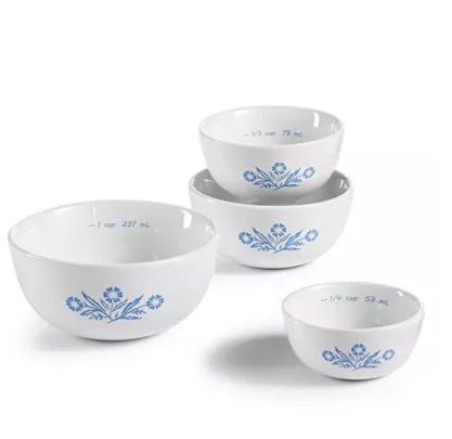 Corningware Cornflower 4 piece measuring bowl set