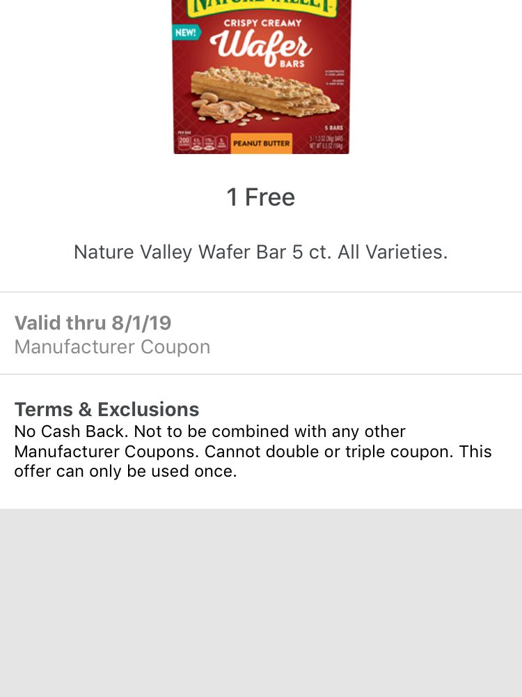 Nature Valley Wafer Bars coupon