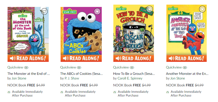 Sesame Street ebooks