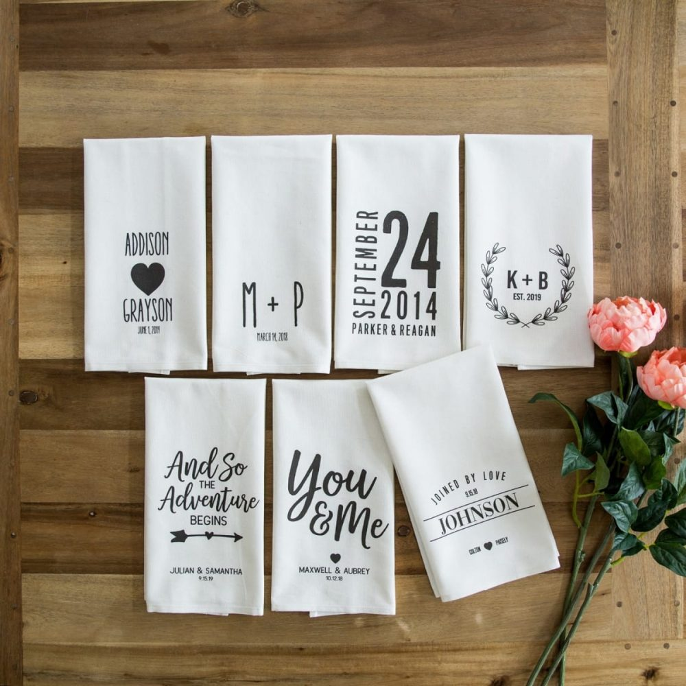 Personalized Wedding Tea Towel