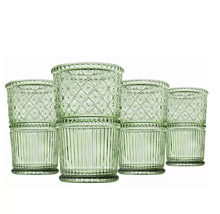 Godinger Claro Modern Vintage Highball Glasses