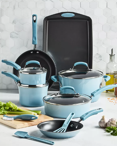 Rachael Ray 14 piece nonstick cooking set