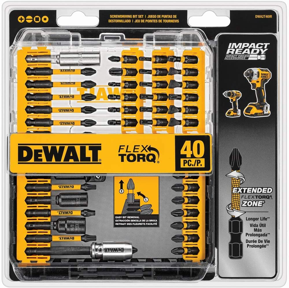 DEWALT Screwdriver 40 Piece Bit Set