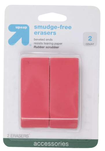 Up & Up Smudge Free Erasers