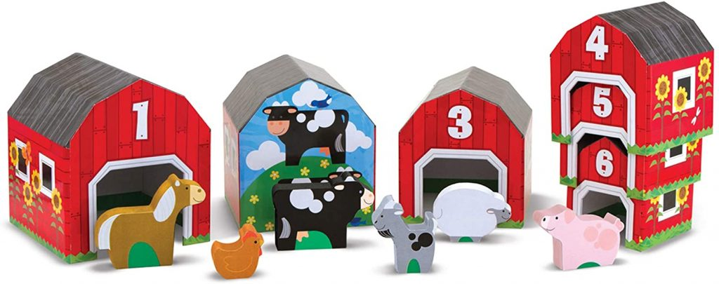 Melissa & Doug Nesting & Sorting Barn set